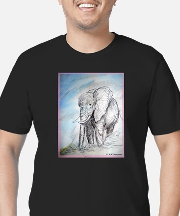 Elephant, wildlife, art, T