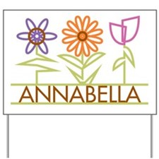 Annabella with cute flowers Yard Sign