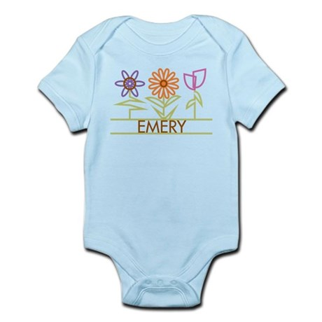 Emery with cute flowers Infant Bodysuit