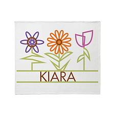 Kiara with cute flowers Throw Blanket