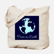 Peace on Earth (navy) Tote Bag