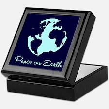 Peace on Earth (navy) Keepsake Box
