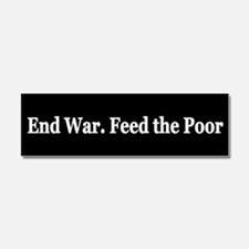 Occupy Wall Street and End th Car Magnet 10 x 3