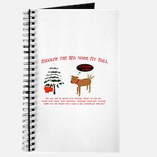 Unique Christmas pit bull Journal
