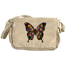 Autism Butterfly Messenger Bag