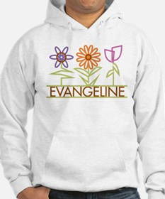 Evangeline with cute flowers Hoodie Sweatshirt