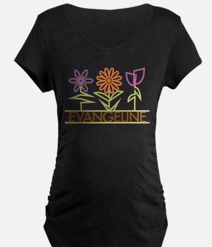 Evangeline with cute flowers T-Shirt