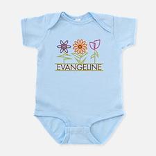 Evangeline with cute flowers Infant Bodysuit