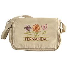 Fernanda with cute flowers Messenger Bag