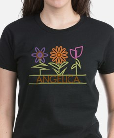 Angelica with cute flowers Tee