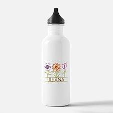Lilliana with cute flowers Water Bottle