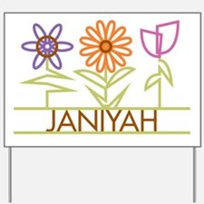Janiyah with cute flowers Yard Sign