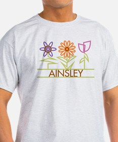 Ainsley with cute flowers T-Shirt