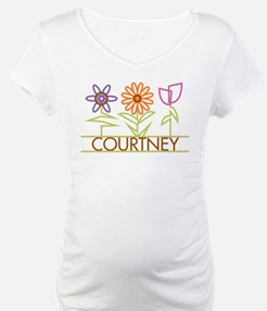 Courtney with cute flowers Shirt