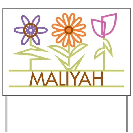 Maliyah with cute flowers Yard Sign