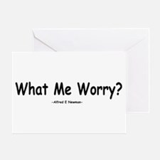 What Me Worry? Greeting Card