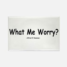 What Me Worry? Rectangle Magnet