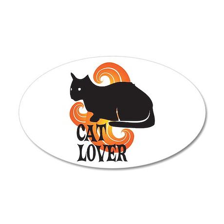 Cat Lover 38.5 x 24.5 Oval Wall Peel