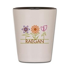 Raegan with cute flowers Shot Glass