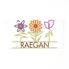 Raegan with cute flowers Aluminum License Plate
