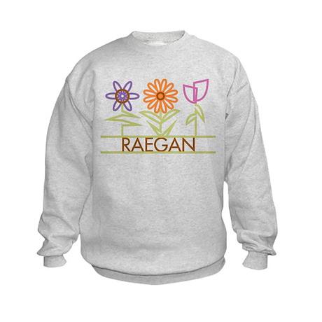 Raegan with cute flowers Kids Sweatshirt