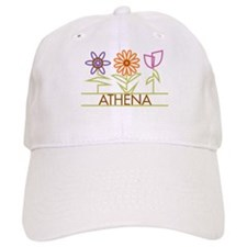 Athena with cute flowers Baseball Cap
