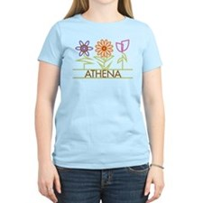 Athena with cute flowers T-Shirt