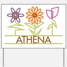 Athena with cute flowers Yard Sign