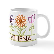 Athena with cute flowers Mug