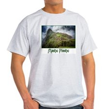 Machu Picchu Ash Grey T-Shirt