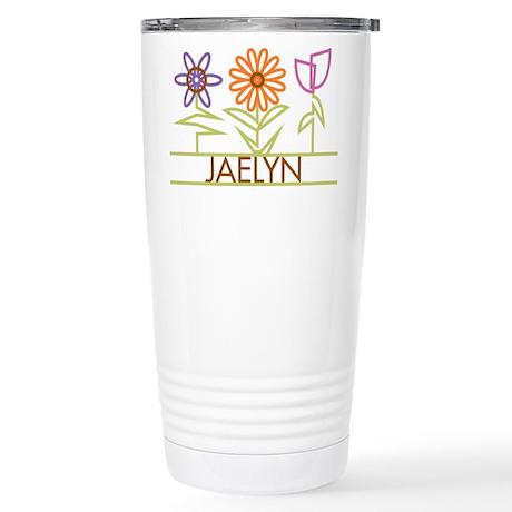 Jaelyn with cute flowers Stainless Steel Travel Mu