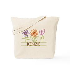 Kenzie with cute flowers Tote Bag