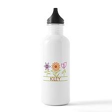 Kiley with cute flowers Water Bottle