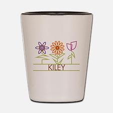 Kiley with cute flowers Shot Glass