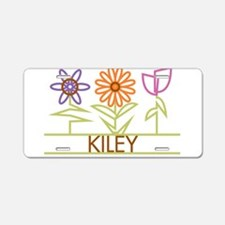 Kiley with cute flowers Aluminum License Plate