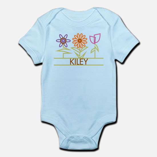 Kiley with cute flowers Infant Bodysuit