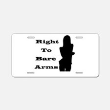 Right to Bare Arms Aluminum License Plate