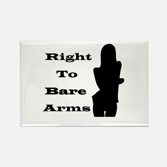 Right to Bare Arms Rectangle Magnet