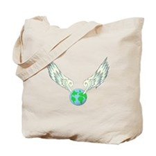 Flying Earth Tote Bag