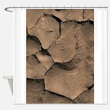 Boxwork Ridges Medusae Fossae Mars Shower Curtain
