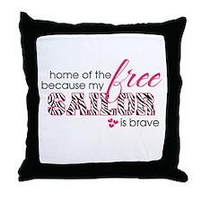 Unique Pink camo Throw Pillow
