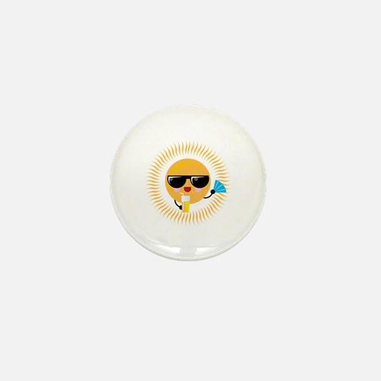 Cool Sun Mini Button