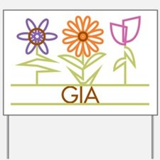 Gia with cute flowers Yard Sign