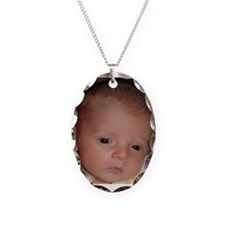 Nathan One Month Old Necklace Oval Charm