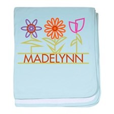Madelynn with cute flowers baby blanket