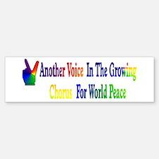 World Peace Chorus Bumper Bumper Bumper Sticker