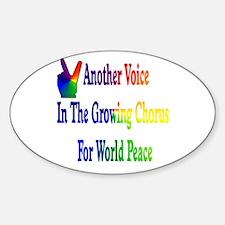 World Peace Chorus Oval Decal