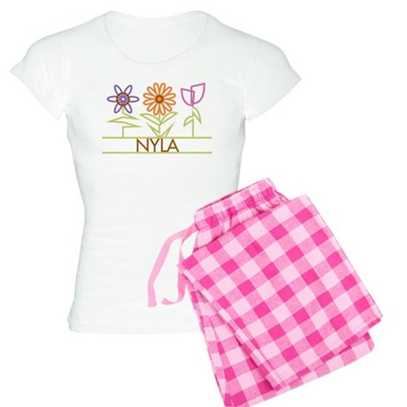 Nyla with cute flowers Women's Light Pajamas