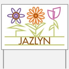 Jazlyn with cute flowers Yard Sign