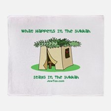 Sukkah Happenings Throw Blanket